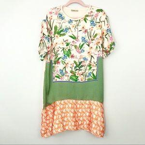 Zara Woman | Floral Print Silky Short Sleeve Dress
